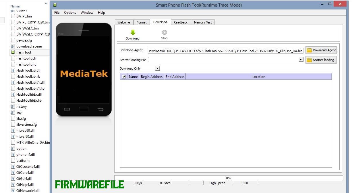 Smartphone Flash Tools (SP flash tools).