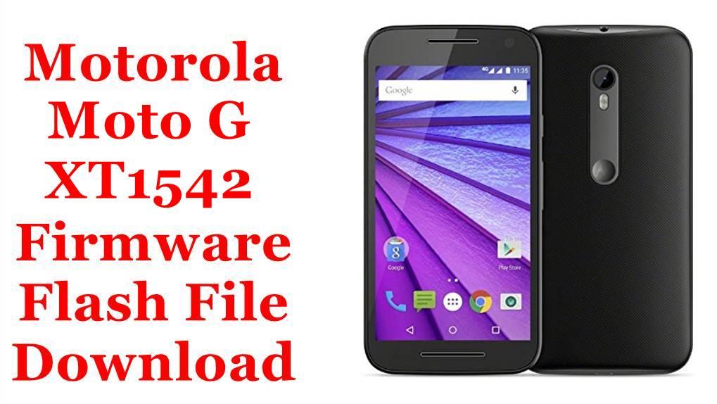 Motorola Moto G XT1542